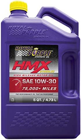 Royal Purple 11750 HMX SAE 10W-30 High-Mileage Synthetic Motor Oil - 5 qt, Model:ROY11750