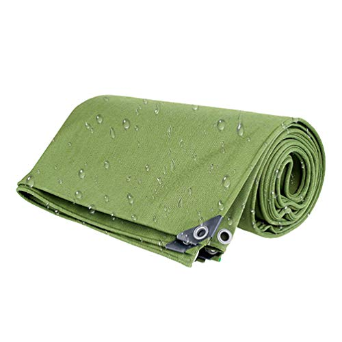 0,8 mm versterkte dakpannen, uv-bestendig waterdicht polyester, zonwering zwembad campingoverkapping luifel, duurzaam auto tent weerbestendig anti-scheur dekzeil, waterdicht extra dik materiaal (6m*8m) groen