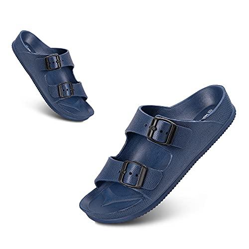 Sandalias Mujer Ligero Moda Sandalias Antideslizante Cómodo Verano Adulto Zapatos de Playa y Piscina Azul Talla 40