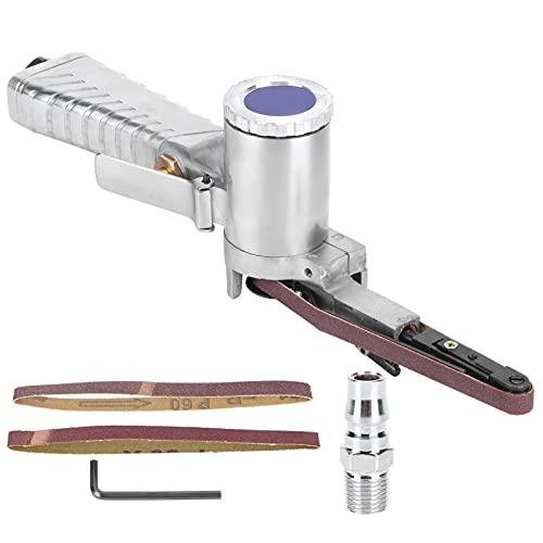 Lijadora de banda de aire Les-Theresa, lijadora de banda neumática, máquina pulidora de carpintería de 10mm, suministros de carpintero