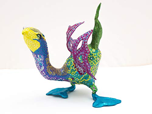 Alebrije'PrinSA'.- Escultura de papel, con la técnica original de cartonería. Elaborado por Barbara Falkenberg en el taller de Susana Buyo.