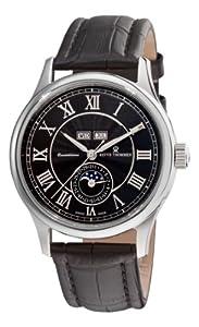 Revue Thommen Men's 16066.253699999999 Moonphase Analog Display Swiss Automatic Black Watch