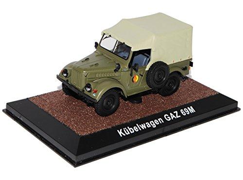 Atlas GAZ 69M Kübelwagen DDR NVA Armee 1/43 Modell Auto