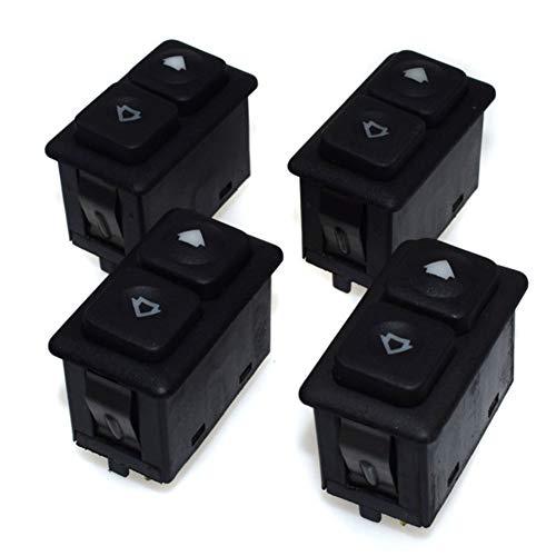 KUANGQIANWEI Botonera elevalunas 4pcs Ventana de energía del Interruptor 5 Pernos en Forma for el BMW Serie 3 E30 E30 de Control 61311381205 (Color : 4 Pieces)