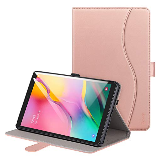 Ztotop Case for Samsung Galaxy Tab A 8.0 (SM-T290/SM-T295) 2019 Release, Premium PU Leather Case Folio Stand Tablet Cover with Multiple Viewing Angles for Galaxy Tab A 8.0 Inch 2019, Rose Gold