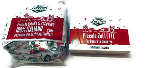 Zucchero Italia Zuccheri - Bustine Monodose di Zucchero 1 Kg + Mini Zollette di Zucchero 1 Kg