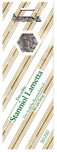 RW 1 Mappe 70 g (EUR 50,00/100g) Lametta Silber Original echtes schweres Stanniol Bleilametta