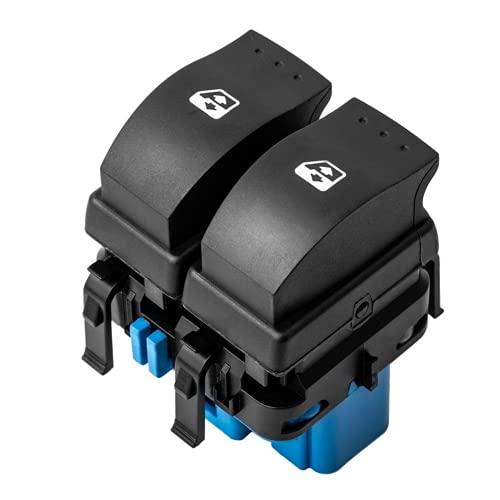 YSAZA Botón de Interruptor de elevalunas eléctrico Delantero, para Renault Megane II 2 Scenic II Grand Scenic II 2002-2009 8200107772