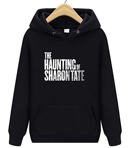 The Haunting of Sharon Tate Unisex Erwachsene Fronttasche Hoodies Pullover für Damen und Herren Gr. X-Large, Schwarz