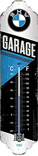 Nostalgic-Art 80312, BMW Garage, Thermometer, Metall, 28 x 6.5 x 1.7 cm