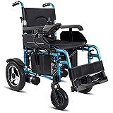 Silla de Ruedas eléctrica Plegable y Liviana para Adultos discapacitados y Ancianos Silla eléctrica de 320 W de Doble...