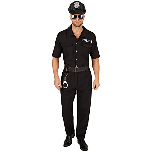 TecTake dressforfun Costume da Uomo Poliziotto | Camicia Manica Corta e Comodi Pantaloni | con Cintura in Similpelle (S | No. 301434)