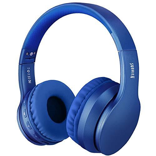 Cuffie Bluetooth 5.0 Senza Fili, Sunvito Pieghevole Auricolari con Mic, Lettore MP3, Radio FM, Wireless Cuffie (blu)