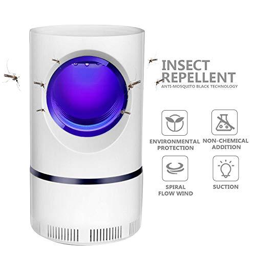 FRGHF Elektrischer Insektenvernichter, UV Insektenfalle Mückenlampe 360° Insektenvernichter Mückenlampe KeinLärm Fliegenfalle Elektrisch Mückenschutz, USB Mückenfalle für Innen und Außen, Chemiefrei