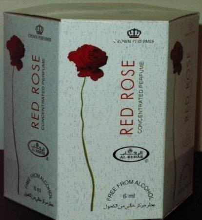 Red Rose - 6ml (.2oz) Roll-on Perfume Oil by Al-Rehab (Crown Perfumes) (Box of 6) by Al-Rehab