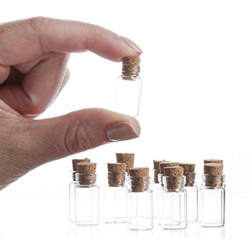Botella de cristal de corcho transparente con arco iris de la suerte (10 unidades)