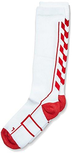Hummel Kinder Tech Indoor Sock High, White/True Red, 8