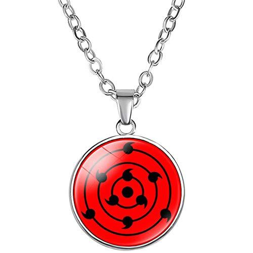 Collana Naruto Shippuden, Naruto Sharingan Rinnegan ciondolo catena collana per anime Cosplay e lega, colore: Style 06, cod. @@(@)_#18004