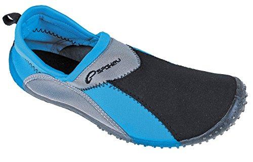 Spokey Surf Erwachsenen Aquaschuhe Surfschuhe Badeschuhe (blau/schwarz, 42)