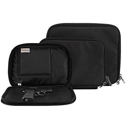 AOCD Concealed Carry Gun Pouch, Pistol Holster Fanny Pack Waist Pocket for Handgun with Belt Loops, Black