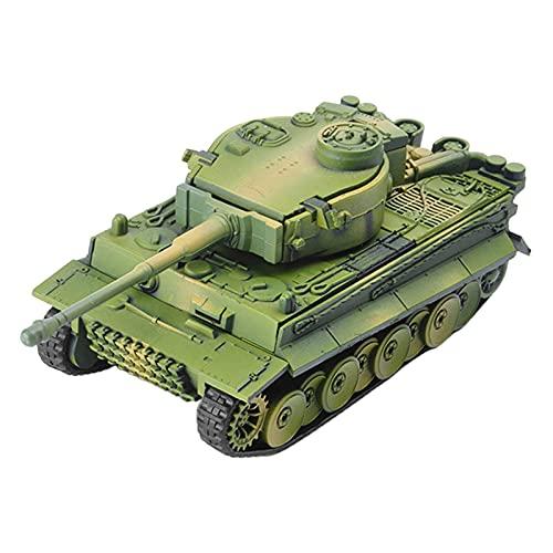 lahomia Mini Tanque Tiger Modelo 1:72 Escala. Incluye Caja de Ladrillos de construcción de Juguete Educativo para niños - Verde