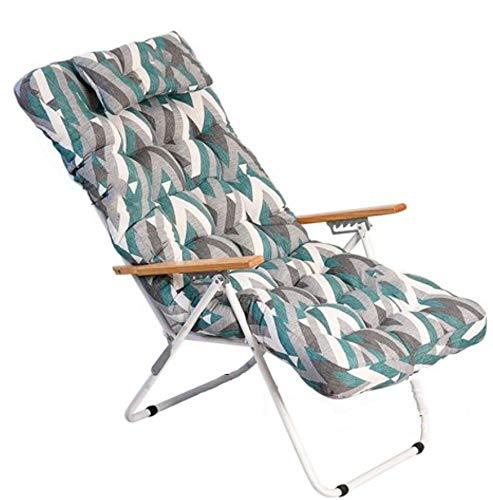 1 COJIN Tumbona Acolchada. COJIN Silla de Playa con Respaldo y Almohada. Cojín Mecedora. Varios tamaños y Colores. (Figuras, 150 x 55 cm)