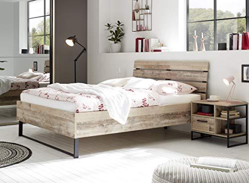 DEINE TANTE EMMA 22-590-U8 ROOF Bett Jugendbett Gästebett Futonbett Einzelbett Doppelbett Old Style hell