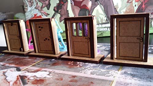 Kit 8 Portas (Compatíveis com Zombicide) - Bucaneiros Jogos