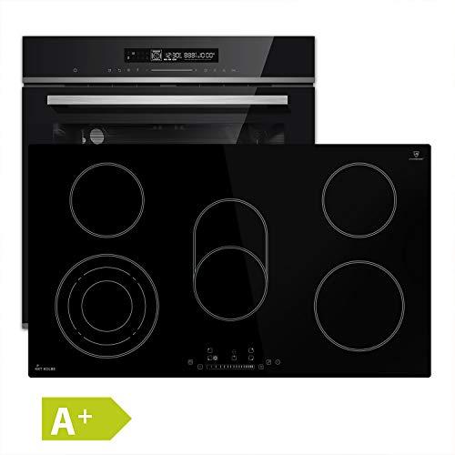 Fornuisset ingebouwde oven 60cm + 90cm kookplaat 5 zones braadzone KKT KOLBE