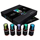 Bienat Aromaterapia Kit de 5 Aceites Esenciales Favoritos Plus (Lavanda, Menta, Eucalipto, Árbol de té y Cedro) 10mL