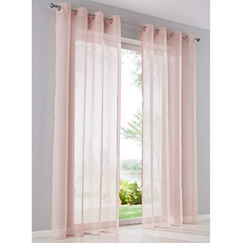 cortinas rosas cortas