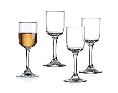 Linea European Shot Glass Shooters With Stem - set of 4
