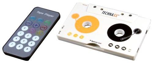 Technaxx DT-02 Kassettenadapter (kabelloser MP3-Player, Kopfhörer, SDHC Kartenslot, integriertem Lithium-Ion Akku für das Autoradio und Kassettendeck)