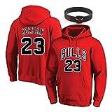 Sudadera con capucha para hombre Michael Jordan # 23 Chicago Bulls Sudadera con capucha de baloncesto para hombres y mujeres - Camiseta holgada con capucha de baloncesto ( Color : Red , Size : Small )