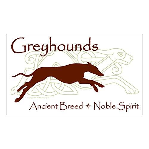 CafePress Celtic/Modern Greyhound Rectangle Sticker Rectangle Bumper Sticker Car Decal