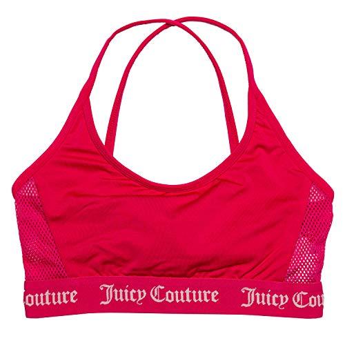 Juicy Couture Juicy - Bikini da nuoto Juicy, con pannelli laterali in rete, colore: rosa rosa 15 anni