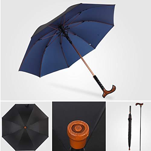 Scheidbaar Soort Multifunctionele Kruk Paraplu, Winddicht Non-Slip Boost Wandelstok Paraplu Met Aluminium Paal En Automatic-Schakelaar Voor Het Bedrijfsleven En De Oude Man,Blue
