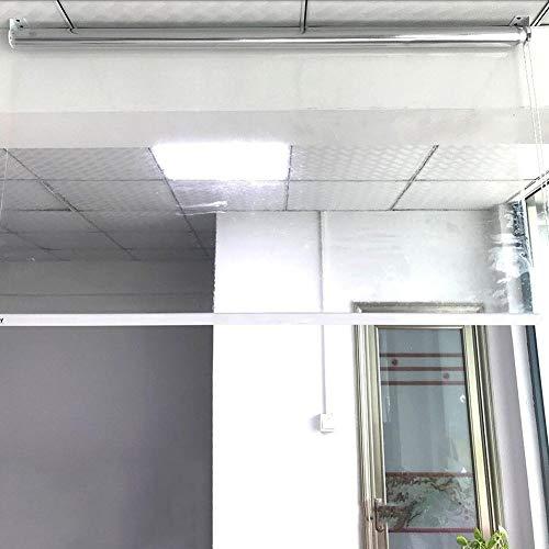 ZLI Persianas Enrollables Persiana Enrollable Transparente de 60cm/80cm/100cm/120cm/140cm Ancho, Persianas de Estornudo para Salas De Reuniones/Oficinas/Bancos, 0,5mm de Espesor