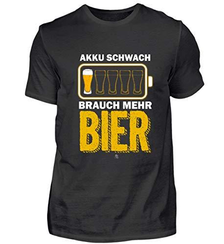 EBENBLATT Lustig Bier Spruch Beer brauen Brauerei Alkohol Bierkrug Bierfass Geschenk Geschenkidee - Herren Premiumshirt -S-Schwarz