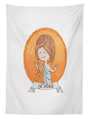 Yeuss Zodiac Libra - Mantel de estilo de dibujos animados para mujer...