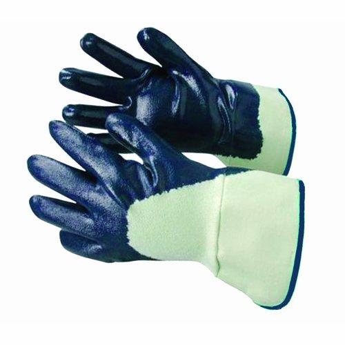 Bon 84-385 PREDATOR groß Nitrilbeschichtung Handschuh mit Baumwolljersey Futter abreibungsbeständiges - (Packung mit 12) Blau
