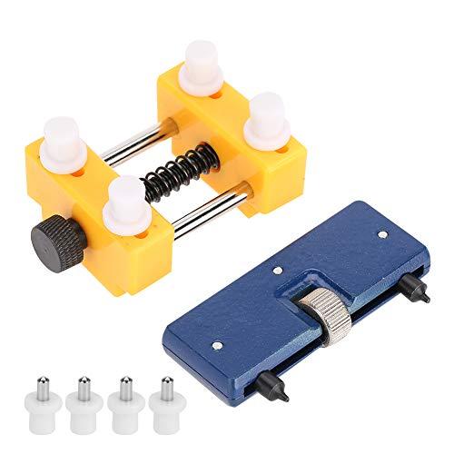 Kit de herramientas de reparación de relojes sólidos de 2 piezas Soporte de reloj ajustable compacto profesional con ranuras antideslizantes