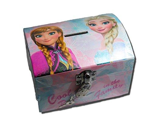 La Reine des Neiges Boîte à bijoux en carton avec cadenas et forme coffre (Kids Euroswan WD19044)