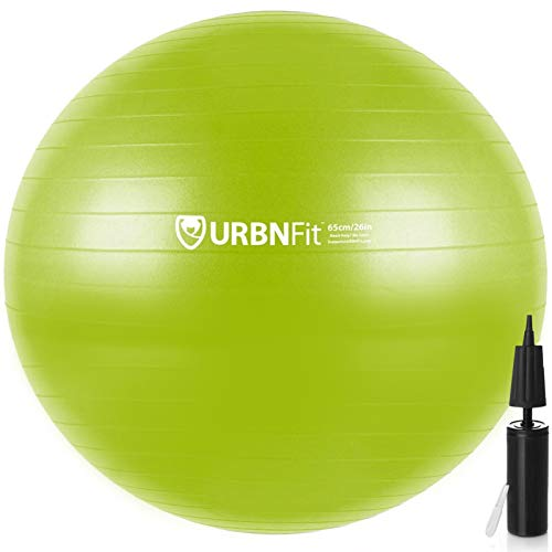 Exercise ball with workout guide