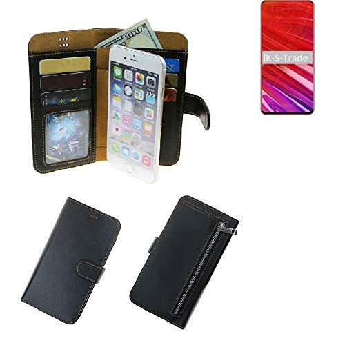 K-S-Trade® Schutzhüll Für Lenovo Z5 Pro GT Schutz Hülle Portemonnaie Case Phone Cover Slim Klapphülle Handytasche E Handyhülle Schwarz Aus Kunstleder (1 STK)