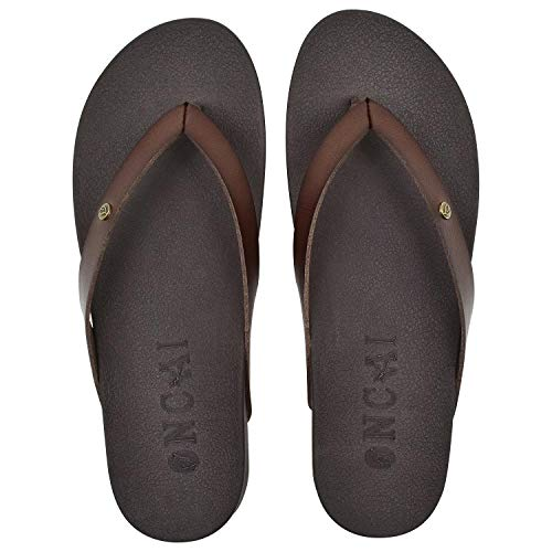 ONCAI Womens Flip Flops for Women Brown for Girls Waterproof Outdoor Summer Beach Slippers with arch support Women sandals