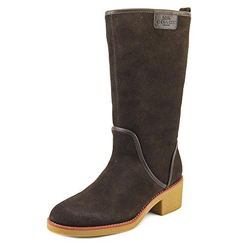 COACH Palmer Winter Boots Chestnut Suede 8 M