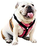 Bulldog Grade No Pull Dog Harness - Custom Fit, Reflective Vest Harnesses with Handle Designed for English Bulldogs, French Bulldogs, and American Bulldogs (Large, Pink Camo)