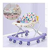 CJW-LC Andador Multifunción para Bebés, 5 Velocidades Altura Ajustable Antivuelco Fácil De Plegar Andadores para Bebés, con 8 Ruedas Universales Ordinarias para Niños Y Niñas De 6 A 18 Meses,C