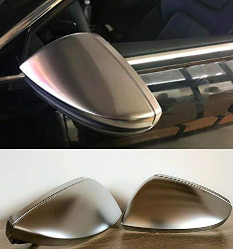 MAX CARBON Compatible con tapas de espejo retrovisor, carcasa cromada de aluminio para Audi A6 S6 RS6 C8 A7 S7 RS7 C8 A8 S8 D5 sin agujero lateral